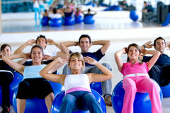 Pilates class in a gym Stock Photography