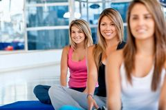 Pilates class in a gym Stock Photos
