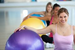 Pilates class at the gym Stock Images
