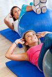 Pilates class in a gym Stock Photo