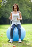 Pilates class outdoors Stock Photography