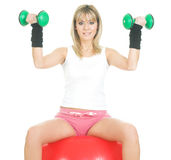 Pilates concept exercise Stock Image