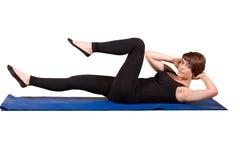 Pilates - Criss Cross stock foto's