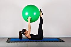 Pilates da ginástica Imagens de Stock