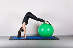 Pilates de gymnastique Photo libre de droits