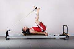 Pilates de la gimnasia Imágenes de archivo libres de regalías