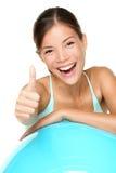 Pilates della donna di forma fisica Fotografia Stock Libera da Diritti
