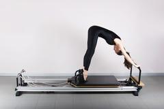 Pilates di ginnastica Immagine Stock