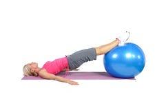 Pilates dysponowany młody żeński instruktor Zdjęcie Royalty Free
