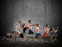 Pilates e allenamento di forma fisica Fotografia Stock Libera da Diritti