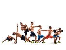 Pilates e allenamento di forma fisica Fotografie Stock Libere da Diritti