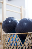 Pilates exercise balls Stock Image