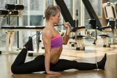 Pilates Exercise Royalty Free Stock Images