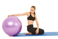 Pilates exercise series Stock Photos