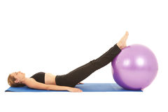 Pilates exercise series Royalty Free Stock Photos
