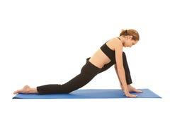 Pilates exercise series Royalty Free Stock Image