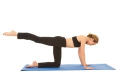 Pilates exercise series Stock Photo