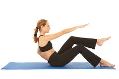 Pilates exercise series Royalty Free Stock Image