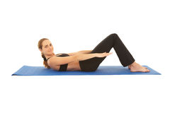 Pilates exercise series Stock Photo