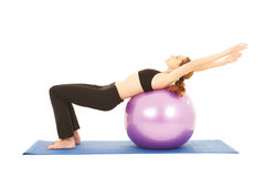 Pilates exercise series Stock Photography