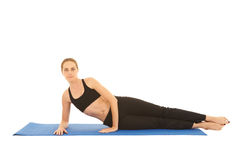 Pilates exercise series Royalty Free Stock Photo