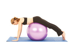 Pilates exercise series Royalty Free Stock Photography