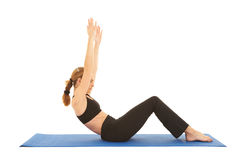 Pilates exercise series Stock Image