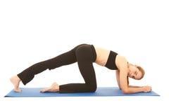 Pilates exercise series Stock Photos