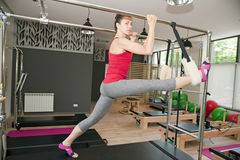 Pilates exercises Stock Photos