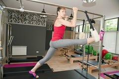 Pilates exercises Stock Photos