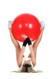 pilates för bollbegreppskondition royaltyfri foto