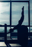 Pilates, fitness, sport, training and people royalty free stock images