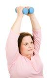 Pilates geben Gewichte frei Stockbild
