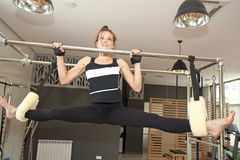 Pilates girl Stock Image