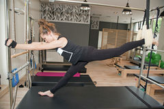 Pilates girl Stock Photo