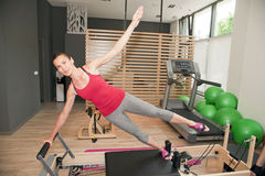 Pilates girl Royalty Free Stock Image