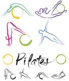 Pilates grupp – färgvektor Royaltyfri Bild