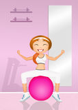Pilates in the gym Royalty Free Stock Photo