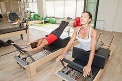 Pilates at gym Stock Photo