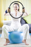 Pilates at Home Stock Photography