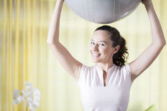 Pilates at Home Royalty Free Stock Images