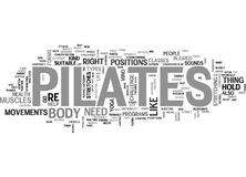 Is Pilates A New Fitness Trend Right For You Text Background  Word Cloud Concept Stock Photos