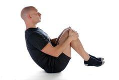 Pilates - o rolamento gosta de uma esfera Fotos de Stock Royalty Free