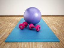 Pilates opleiding Stock Foto