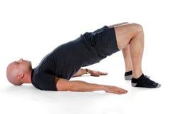 Pilates - passerelle d'épaule Photographie stock libre de droits