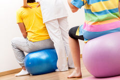 Pilates in physiotherapy Stock Images