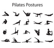 Pilates pose des positions illustration libre de droits