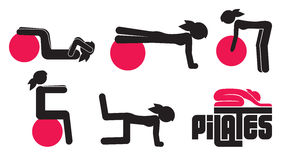 Pilates poses Royalty Free Stock Images