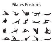 Pilates posiert Stellungen lizenzfreie abbildung