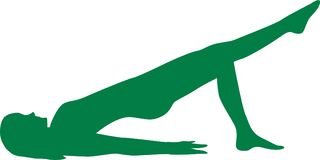 Pilates position hip lift stock illustration